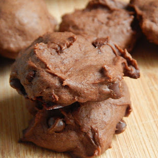 Double Chocolate Peanut Butter Banana Cookies.