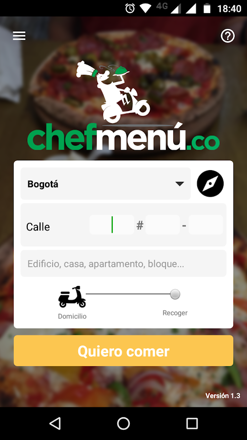 Domicilios ChefMenu- screenshot