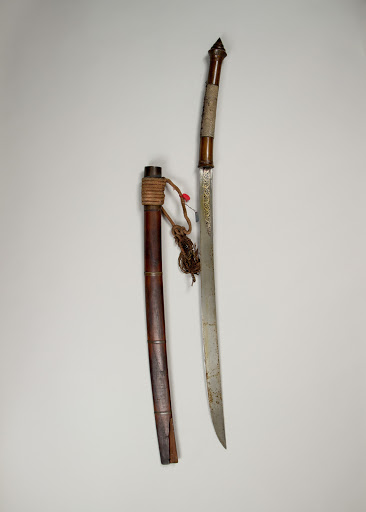 Sword (Dha) with Scabbard