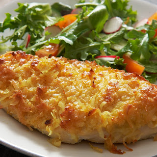 Coconut Curry Crusted Chicken.