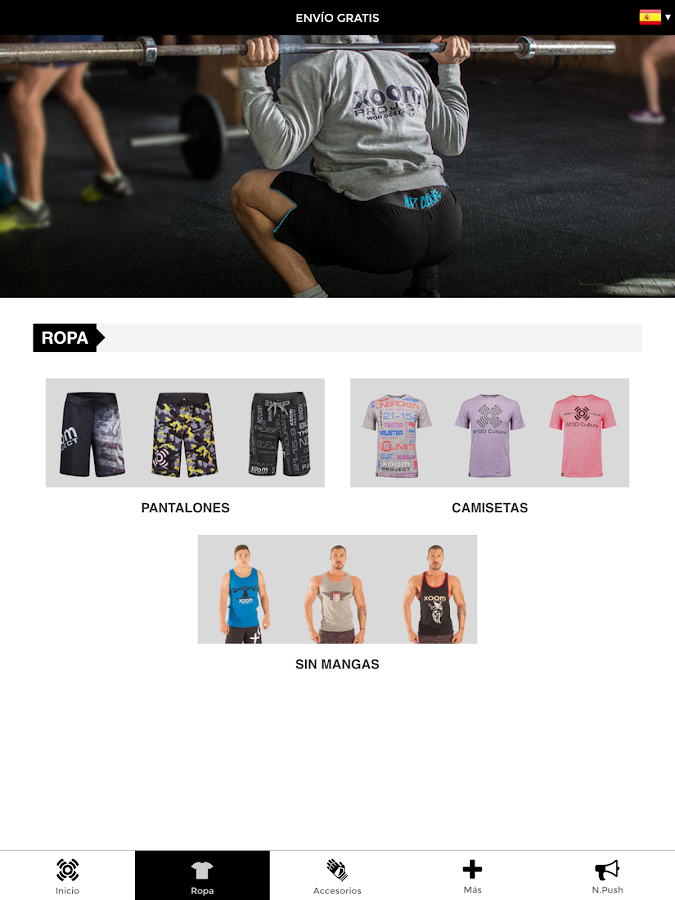 Xoom Project - Moda deportiva- screenshot