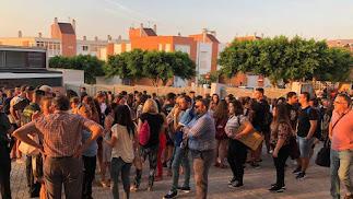 Imagen del Ayuntamiento de la concentración de este jueves.