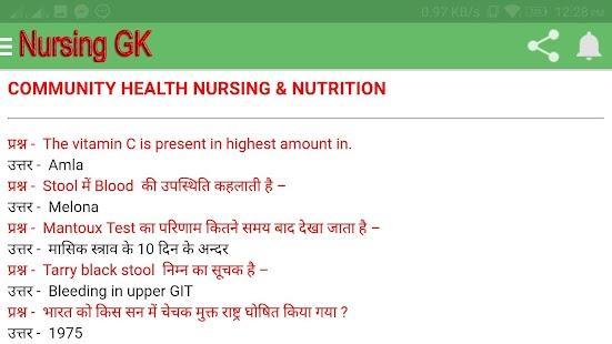 Nursing Notes & Gk In Hindi B.Sc Nursing, Gnm Anm - Android Apps