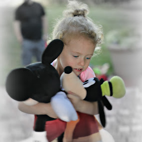 Love my stuffies by Peggy Clark - Babies & Children Children Candids ( love, family, granddaughter )