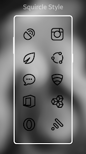 Squircle Lines Black UI - Icon Pack- screenshot thumbnail