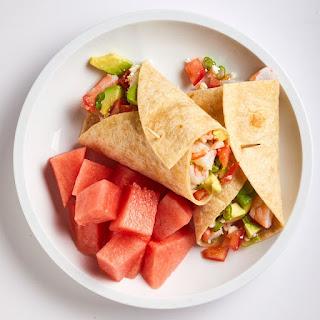 Shrimp, Avocado & Feta Wrap Recipe