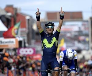 """Valverde emotioneel: """"Dit is voor mijn goeie vriend Scarponi"""""""