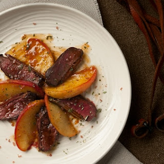Duck Breast with Apples.