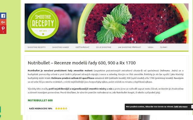 Nutribullet – řady 600, 900 a Rx 1700