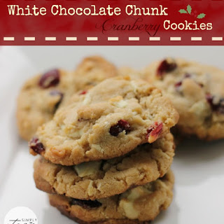 White Chocolate Chunk Cranberry Cookies
