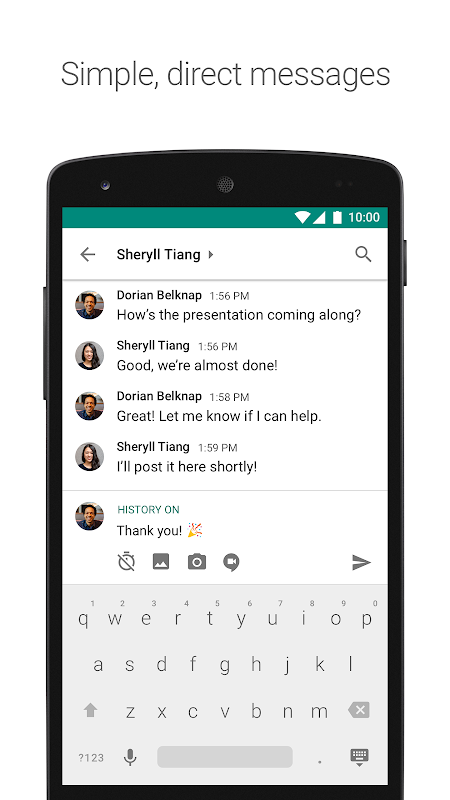 Hangouts Chat screenshots