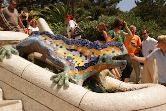 Photo: Gaudi sculpture, Parc Guell, Barcelona