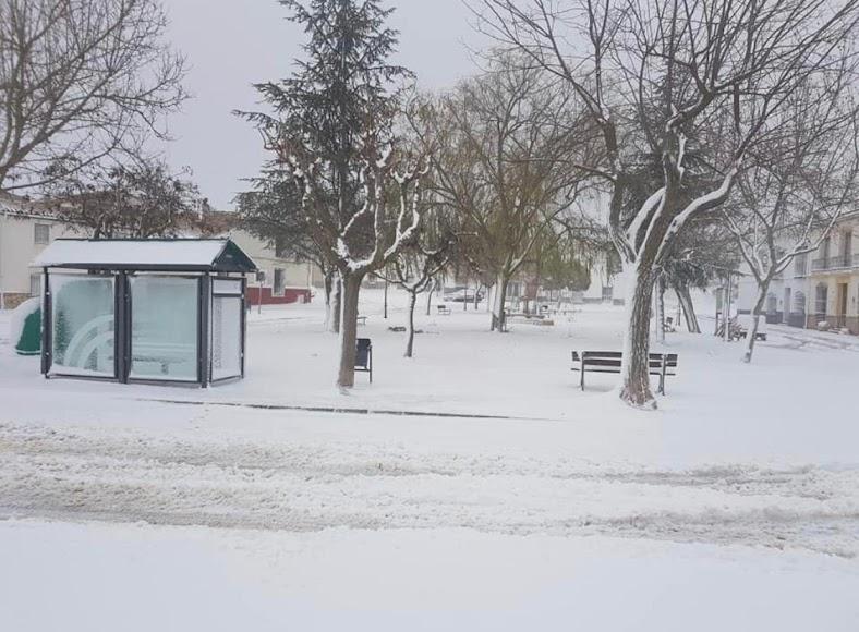 Imagen de este lunes del municipio de Chirivel.