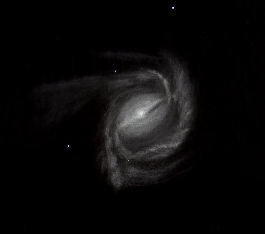 Photo: M61 à 430X dans le T1m de Stellarzac le 6 mars 2014.