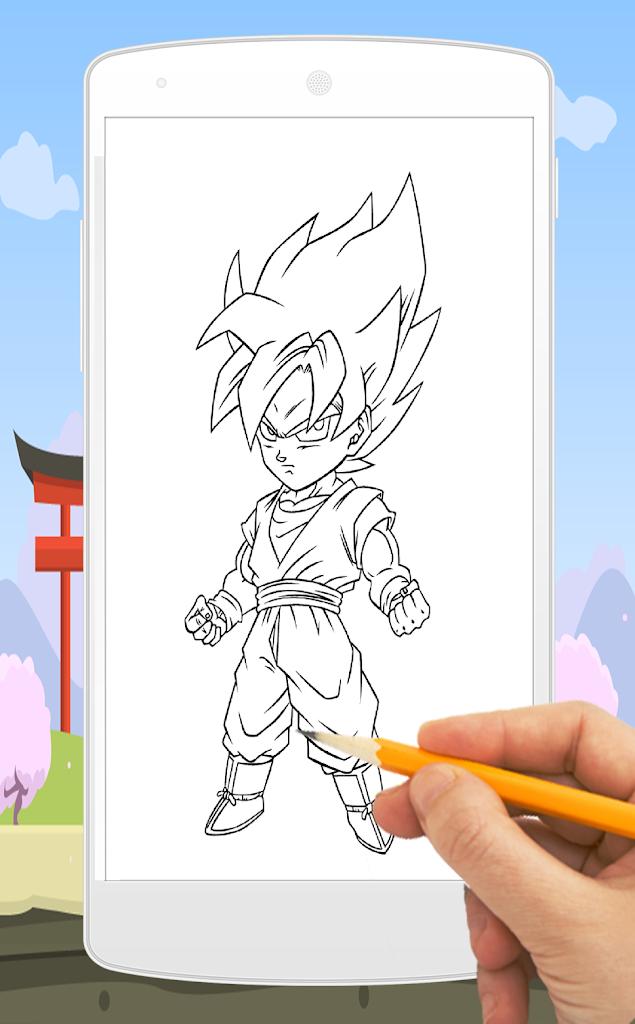 Comment Dessiner Goku Anime Pour Android Apk Telecharger