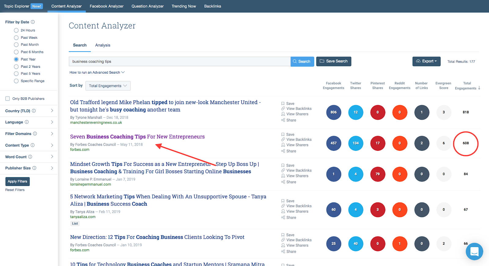 How to Find New Content Ideas Using BuzzSumo Example 2 | Chatbots for Online Coaches
