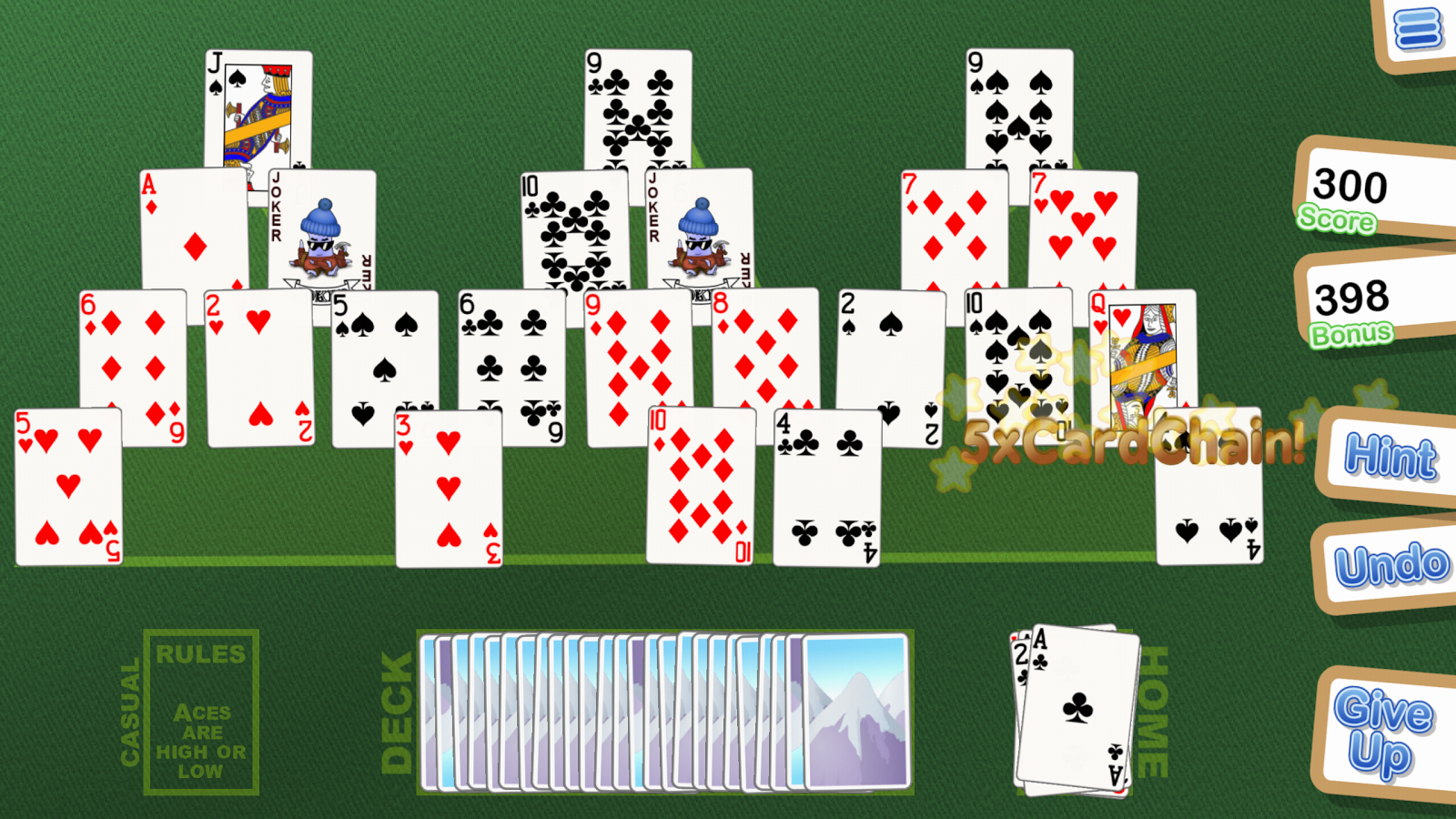Crystal TriPeaks Solitaire- screenshot
