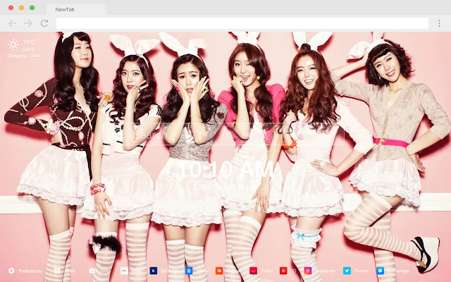 Korean Idol New Tab HD Star Wallpapers Theme