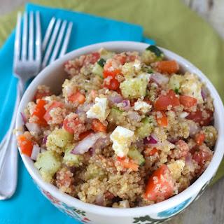 Greek Salad Quinoa Bowls.