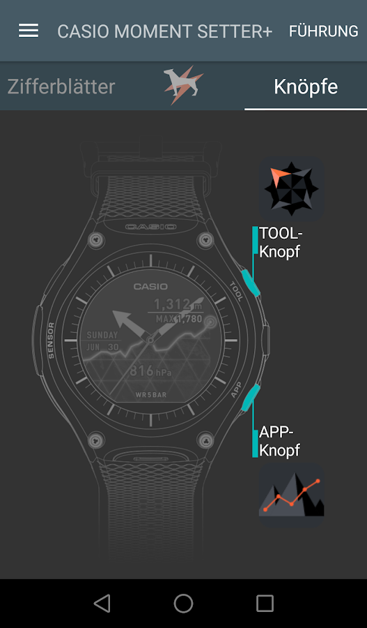 CASIO MOMENT SETTER+ – Screenshot
