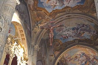 Photo: Le volte affrescate del transetto e dell'abside
