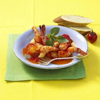 Prawns in Tomato and Saffron Sauce