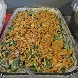 Green bean Casserole by Sandy Stevens Krassinger - Food & Drink Fruits & Vegetables ( onions, casserole, vegetables, green beans, food )