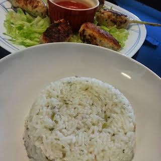 Gingers and Pandan Fragant Rice.