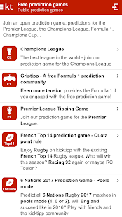 Kicktipp - Sports prediction game with friends- screenshot thumbnail