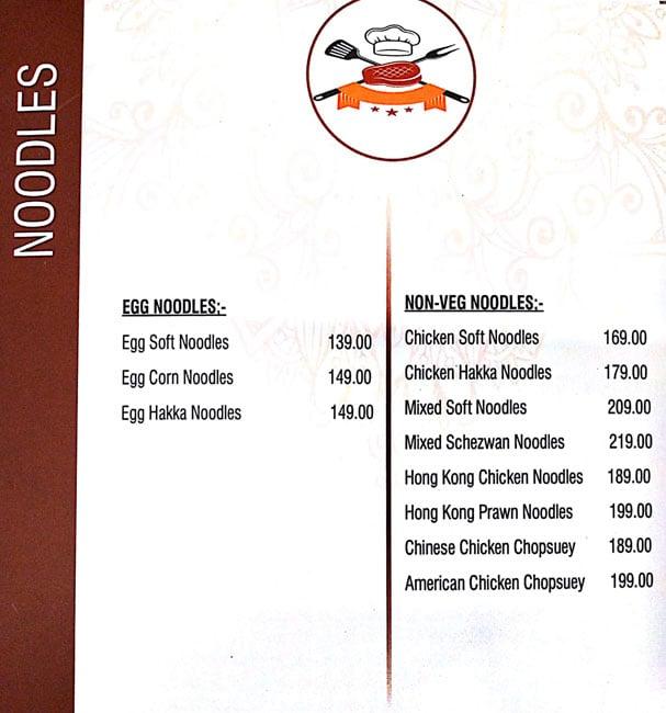 Chef's Kitchen menu 4