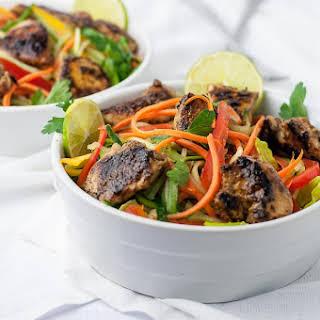 Easiest Chicken Satay Salad.