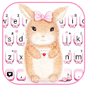 Cute Bunny Keyboard Theme icon