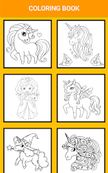 Unicorn Coloring Pages – Pony Coloring Book APK screenshot thumbnail 5