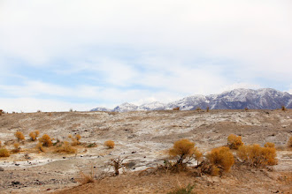 Photo: A view from our camp site at Saline Valley Warm Springs