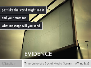 Photo: EVIDENCE - Post like the world might see it and your mom too.  What message are you leaving behind.