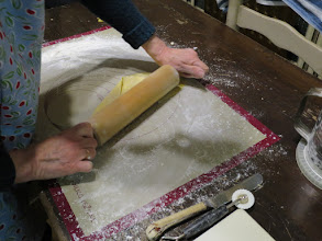 Photo: After chilling overnight, roll out some of the Fattigmann dough, keeping the rest in the refrigerator