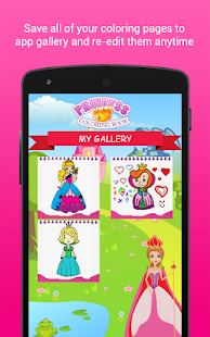 Coloring Book Princess Girls- screenshot thumbnail