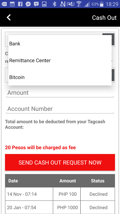 Tagcash Wallet- screenshot