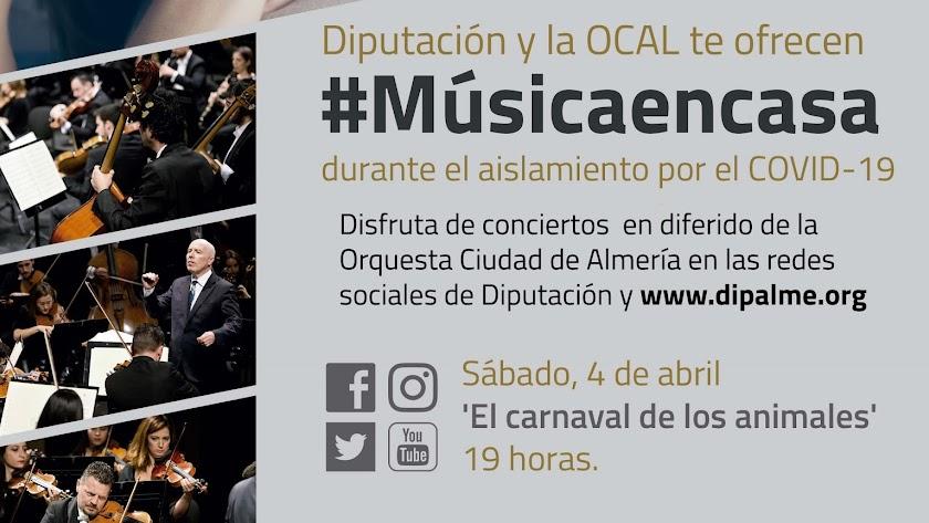 Cartel de la nueva propuesta de Diputación y la OCAL.