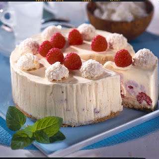 Raspberry and Coconut Ice-Cream Cake.