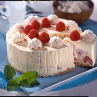 Raspberry and Coconut Ice-Cream Cake.