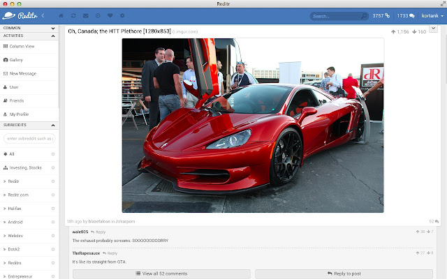 Reditr Web App - The Best Reddit Client
