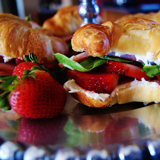 Strawberry Cream Cheese Sandwiches.