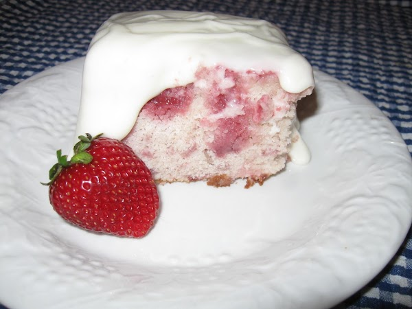 Once cake is cold you can top with your favorite cream cheese icing, glaze...