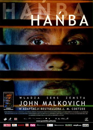 Przód ulotki filmu 'Hańba'