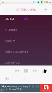 所有馬來西亞調頻廣播免費