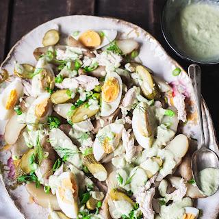 Fingerling Potato Salad with Green Goddess Dressing