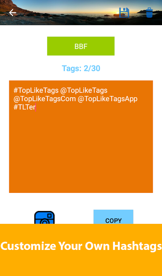 TopLikeTags - Tags for Likes- screenshot