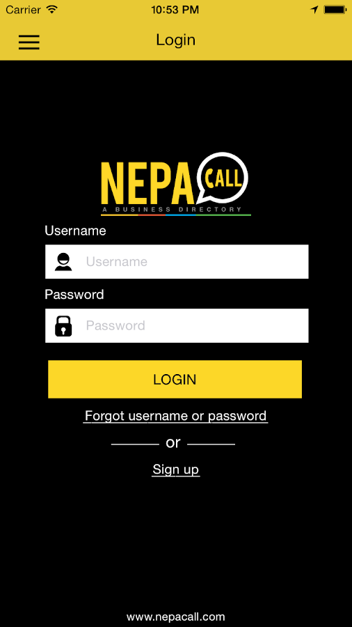 Nepacall- screenshot