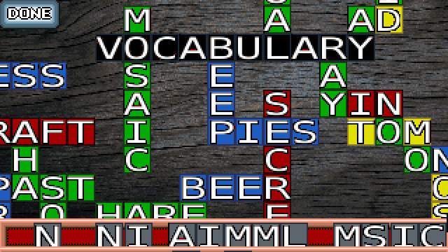 Vocabulary Mosaic- screenshot